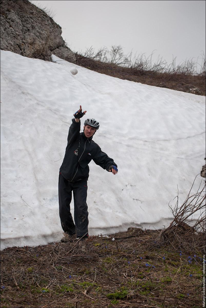 Avrora играет в снежки