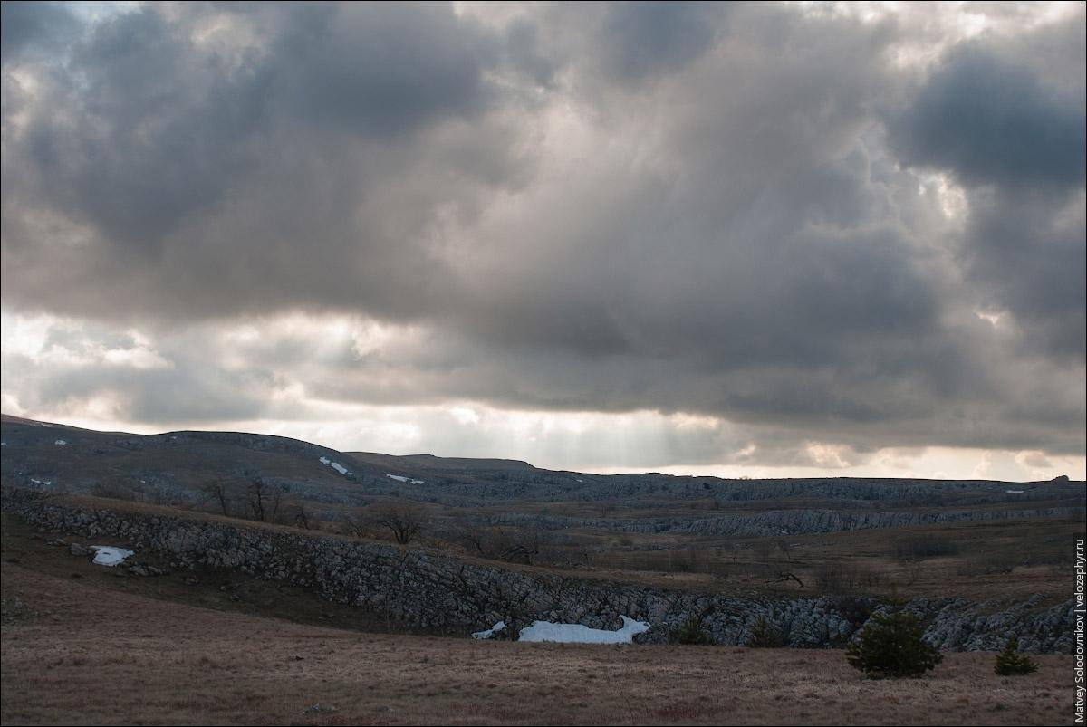 Воронки со снегом