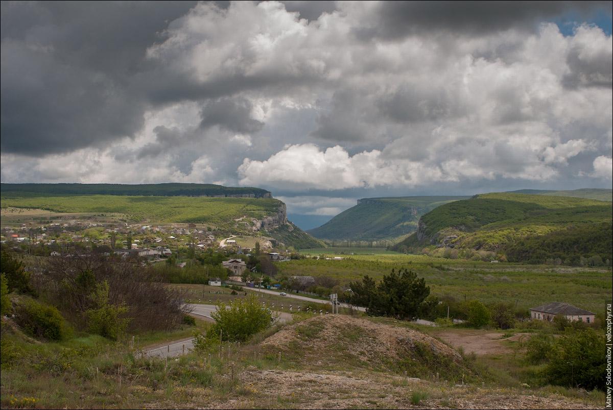Вид на Бельбекский каньон