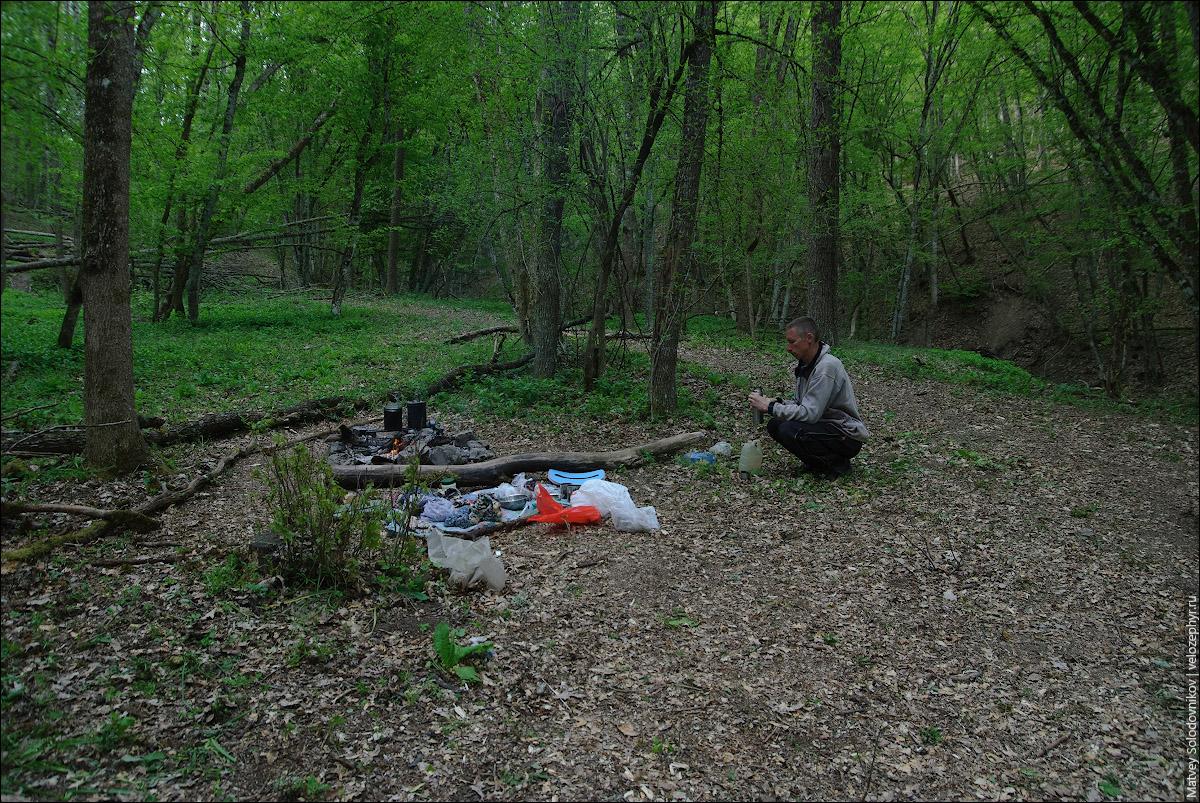 Лагерь в районе заповедника