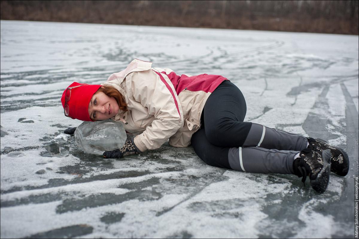 Решила прикорнуть на льдинке
