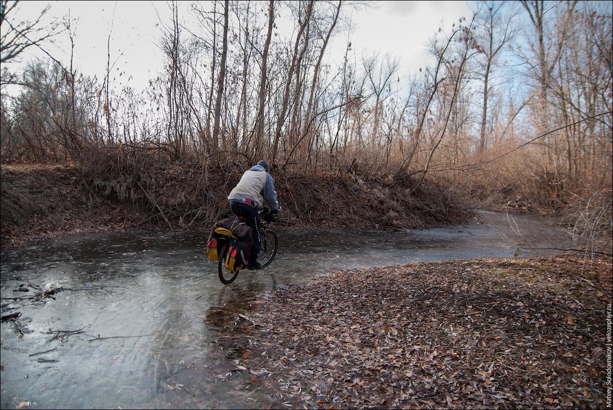 Ледяная велодорожка