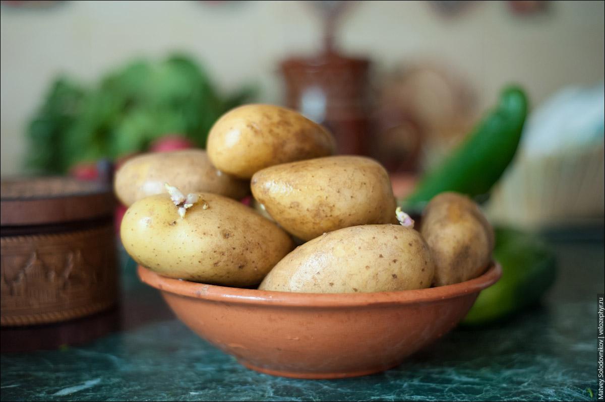 Картошка ждет своей очереди