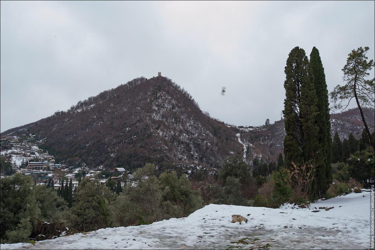 Вид на Иверскую (Апсарскую) гору и Анакопийскую цитадель