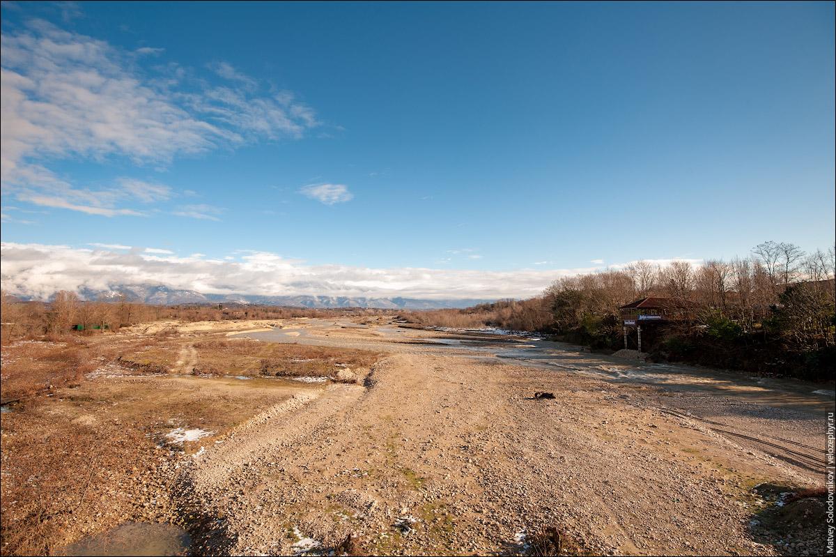 Пересохшая река Хипста (Хыпста)
