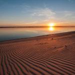 Берег Волги и солнце