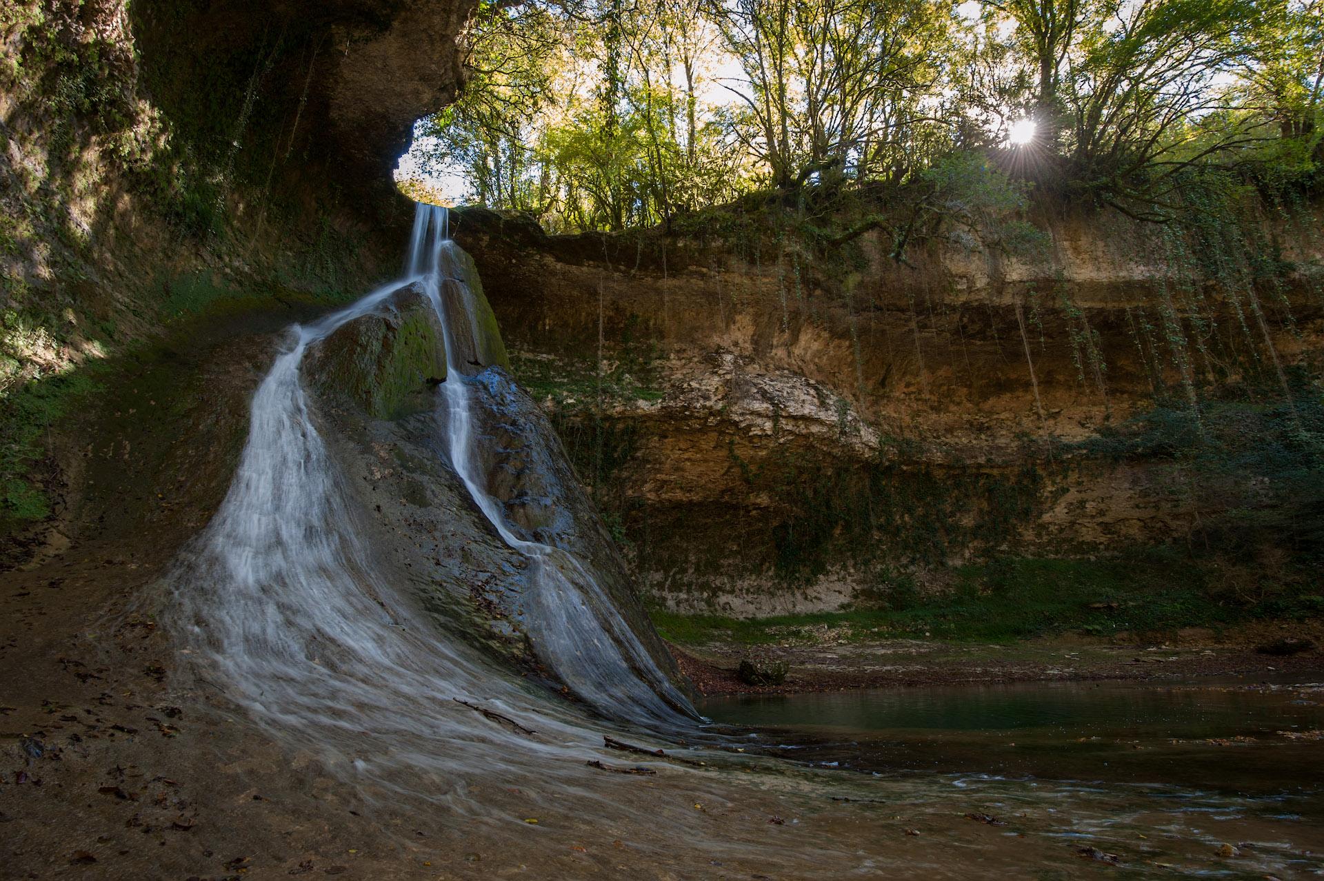 Барьяльский водопад, вид снизу