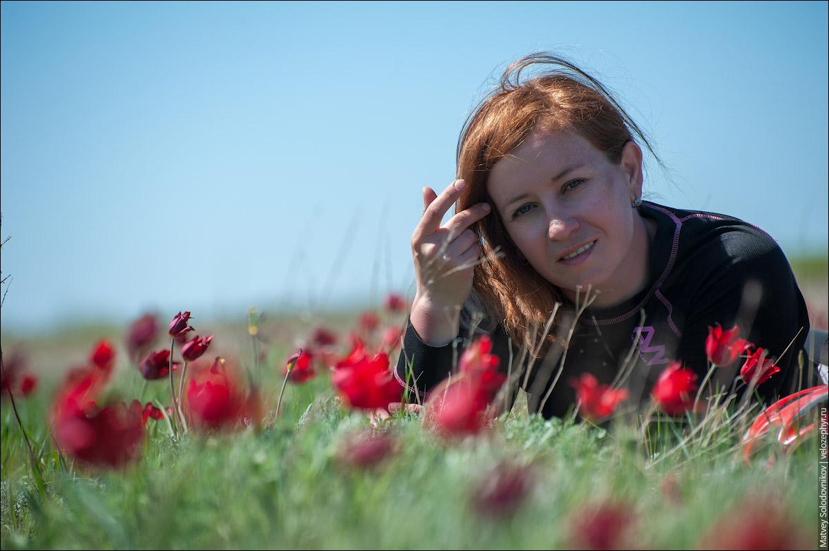 Ирина в тюльпанах