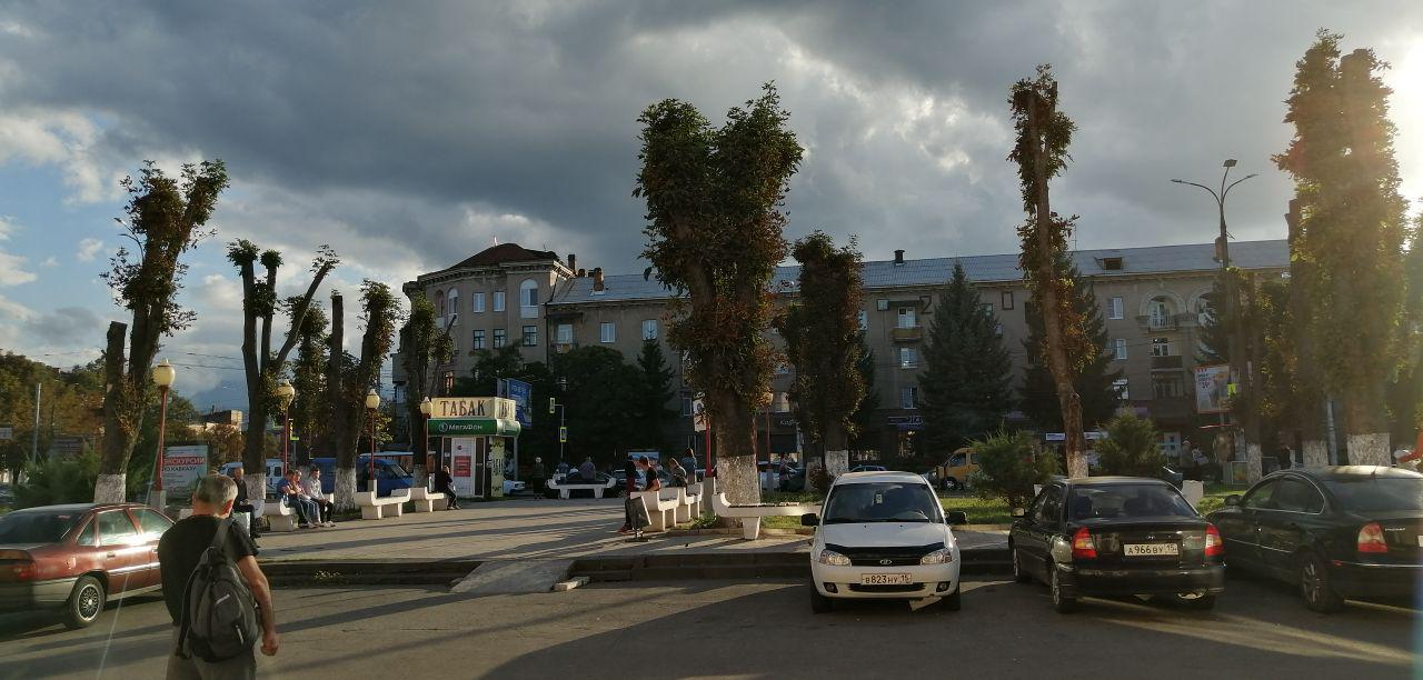 На вокзале Владикавказа